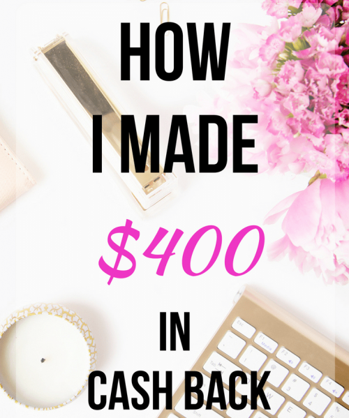 How to use cash back rewards programs to make extra money. Shop online and earn money.