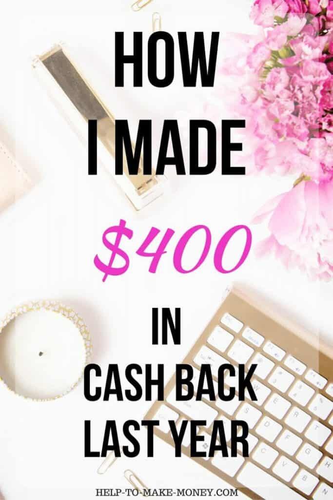 Make extra Money with Cash Back Rewards buying online