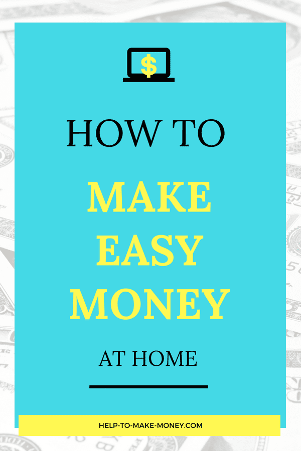 How to make easy money at home on black and yellow letters.