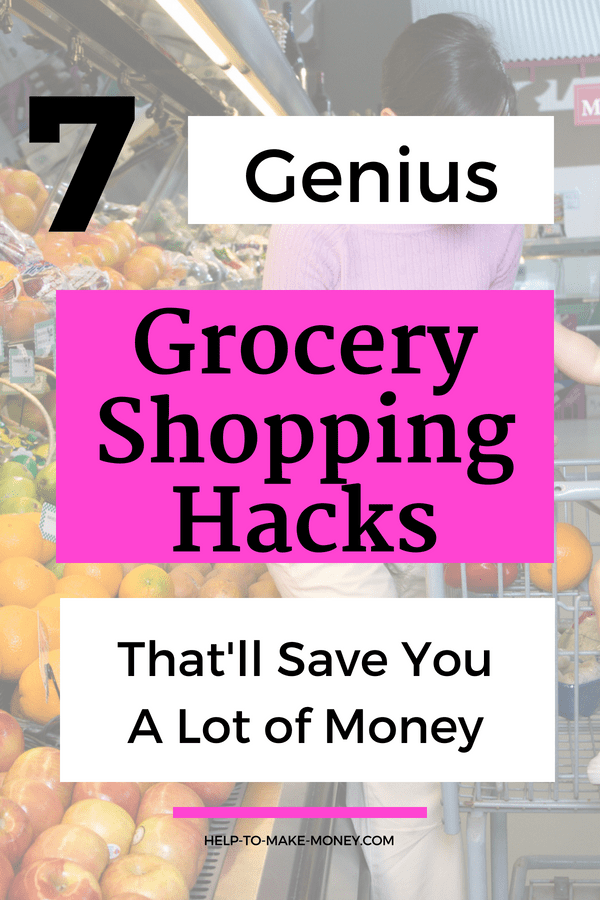 7 Genius Grocery Shopping Hacks that'll Save You A Lot of Money! Check out this post to learn how I save money on my groceries every month. Read it now or save it for later.