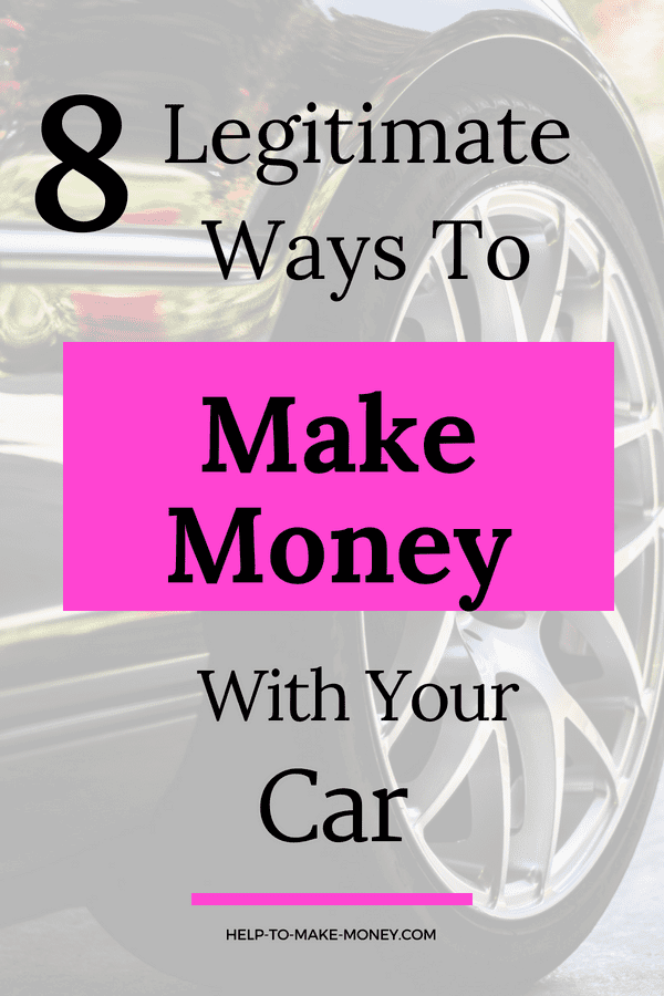 Laern How to Make Money using your car! Check this post out the 8 different ways to make extra money with your car. Some of those ways you do not have to drive your car. This is a great side hustle for extra cash.