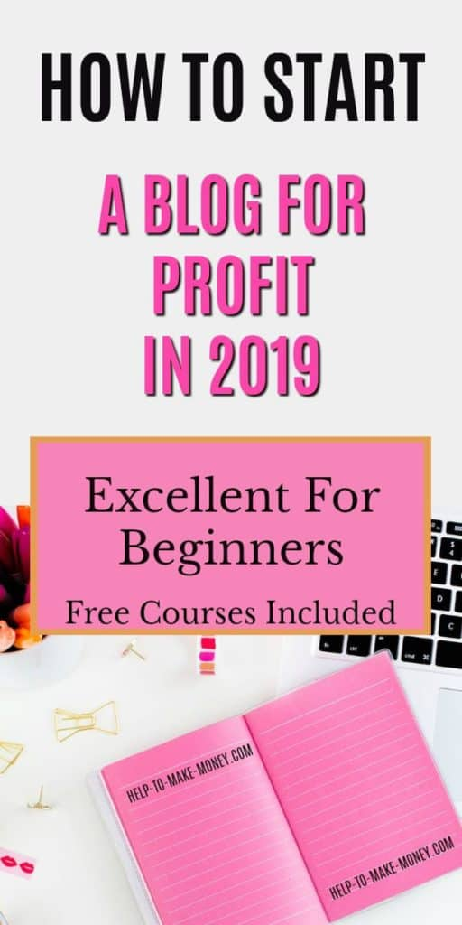 How to start a profitable blog for free! Check out the course that every new blogger should take to start a profit blog.